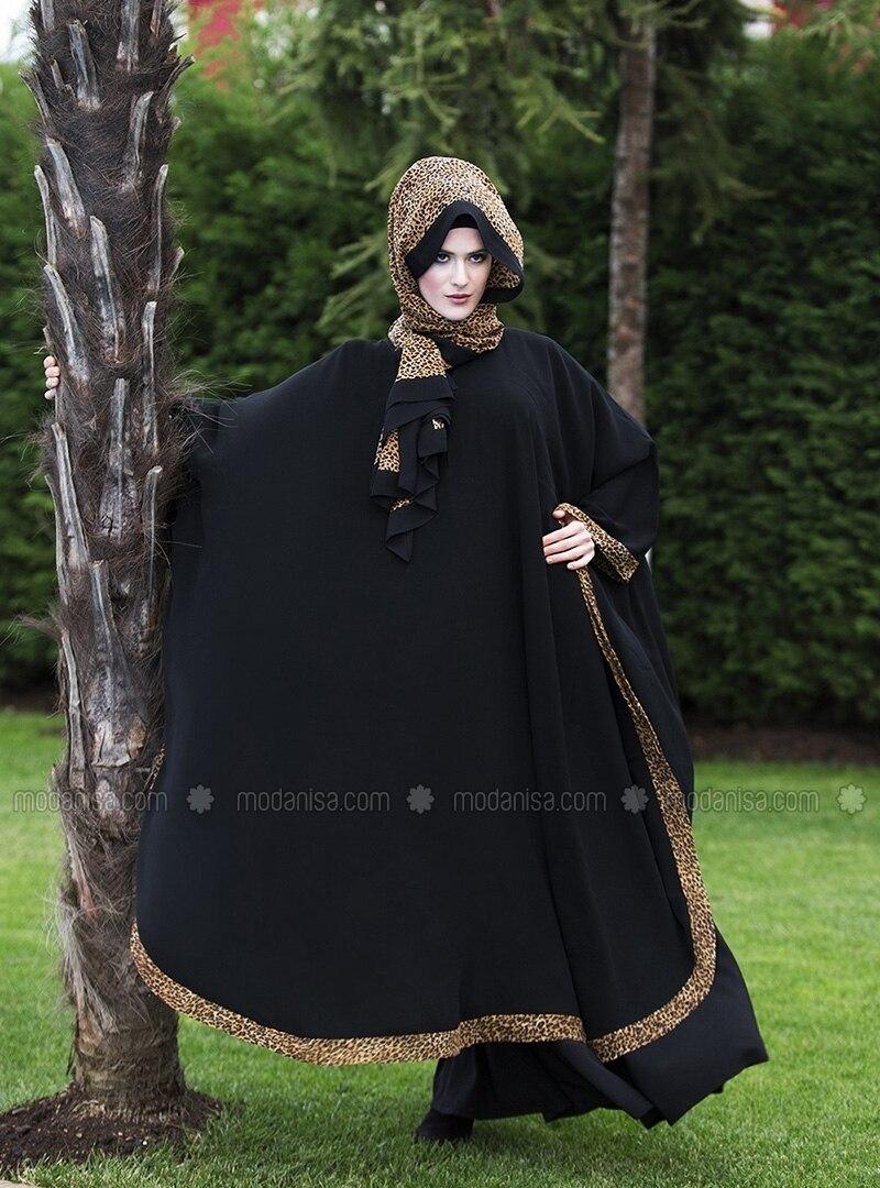 ferace-siyah-mini-leopar-ferrace-by-arzu-ergen