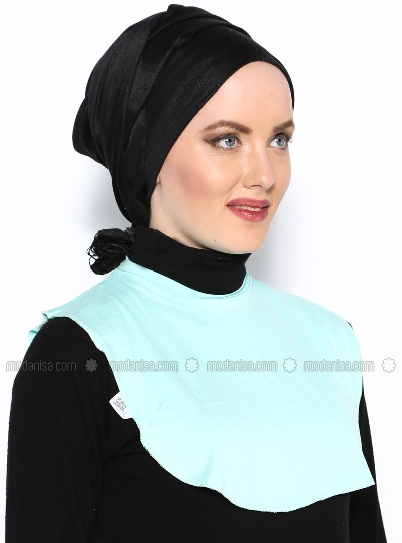 water green collar green armlettes and neckcovers modanisa water green collar green busra anil