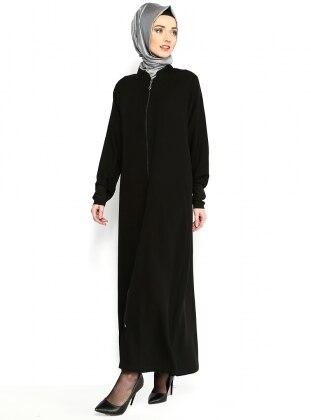 Simple Abaya - Black - ModaNaz 98171