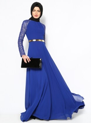 Evening Dress - Royal Blue - Mileny 123008