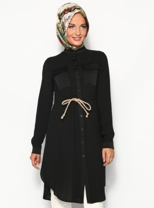 Safari Tunic - Black - Minel Ask 123263