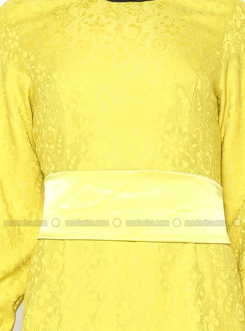 Rochie lungă, fashion, din poliester, cu model floral și mâneci lungi