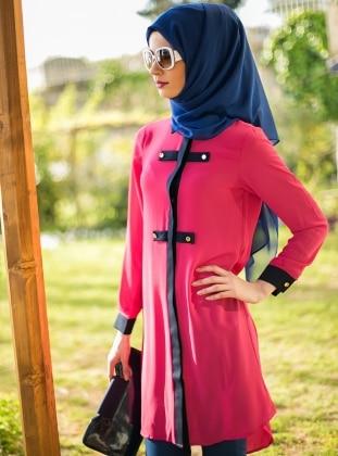 Long Tunic - Pink - Refka 123944