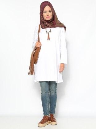 Basic Tunik- Beyaz - Everyday Basic