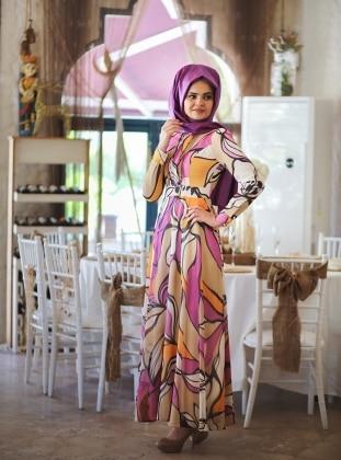 Rengin Elbise - Fuşya - Minel Aşk