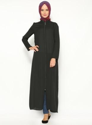 Plain Color Abaya - Black - ModaNaz 138464