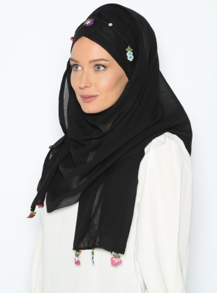 Tülbent Yonca - Siyah - Tulipa Turban