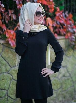Basic Tunic - Black - Minel Ask 159388