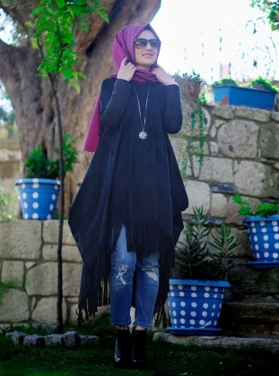 Maya Tunic - Black - Minel Ask 166077