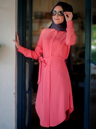 Ribbed Tunic - Vermilion - Minel Ask 167651
