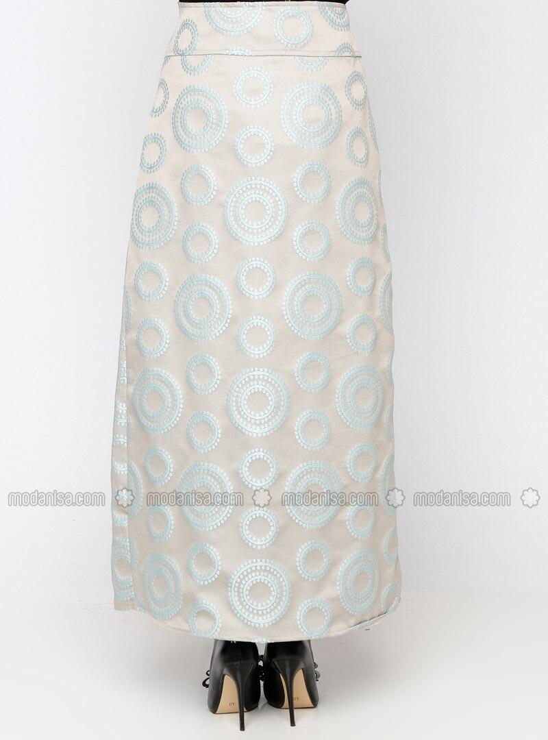 jacquard skirt pile gray skirts modanisa