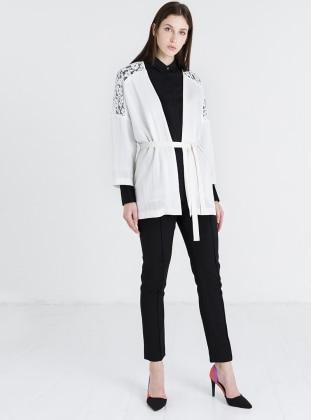 Dantelli Ceket - Beyaz Store Wf