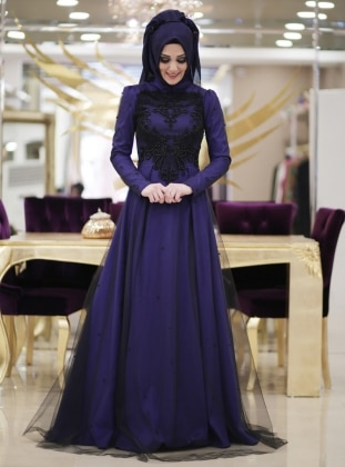 Minel Evening Dress - Saxe - Minel Ask 187109