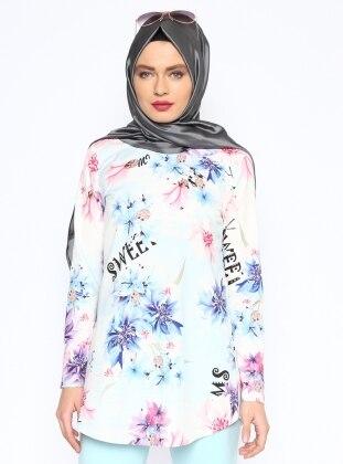 Çiçek Desenli Bluz - Saks Missmira