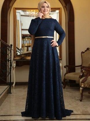 Dior Evening Dress - Navy Blue - Saliha 191940