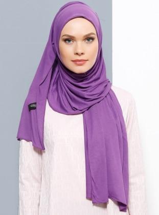 Jersey Combed Cotton Shawl - Purple - Rabia Z