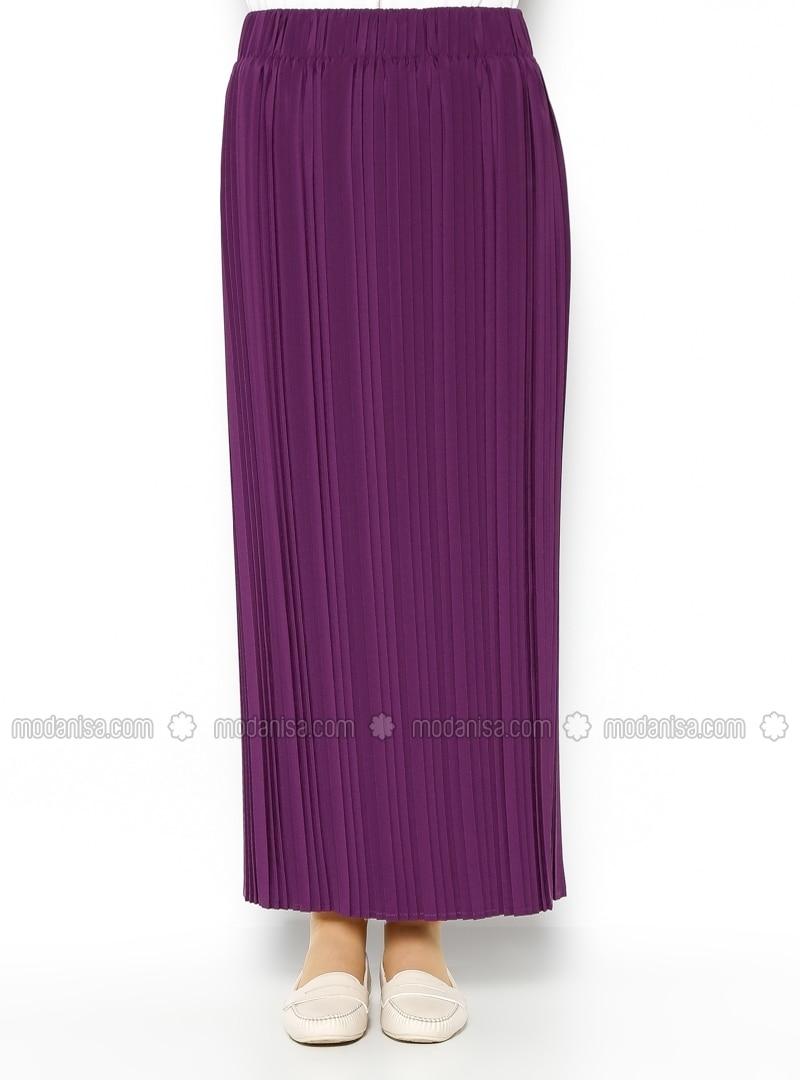 pleated skirt purple skirts modanisa