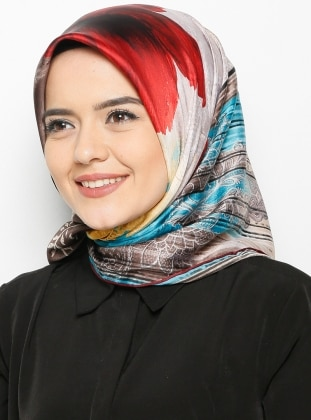 Rayon Scarf - Red/Blue - Bonjela