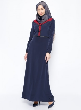 Bow Dress - Navy Blue - Esswaap 253443