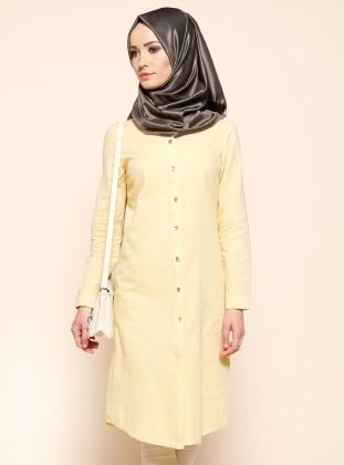 Embellished Tunic - Yellow - Puane