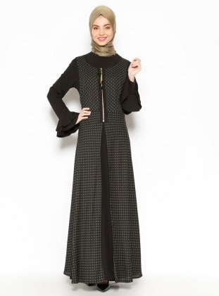 Vest & Dress Set - Black - Esswaap 203244