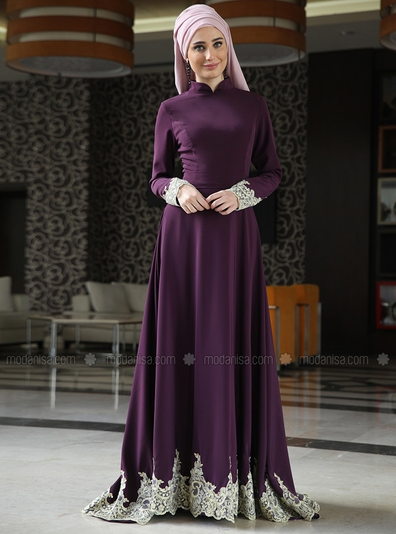 Long dress muslim casual