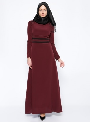 Ribbed Dress - Purple - Esswaap 253450