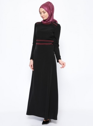 Ribbed Dress - Black - Esswaap 253449