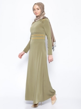 Ribbed Dress - Green - Esswaap 205925