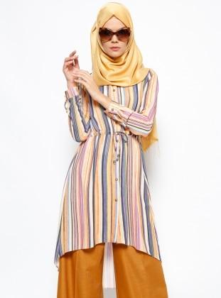 Striped Tunic - Orange - Allday 223193