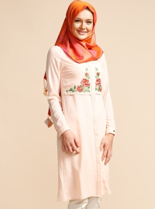 Embroidered Tunic - Powder - Puane 224425