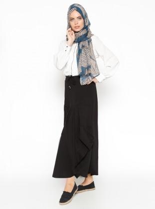 Pocket Detailed Skirt - Black - Veteks Line 225070
