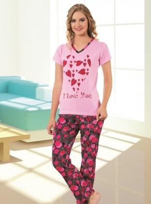 Pijama - Pembe Fuşya - AKBENİZ