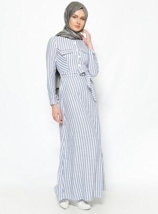 striped Dress - Blue - Zamane S.C 228594
