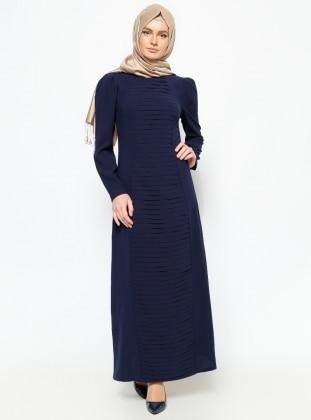 Draped dress - Navy Blue - Zamane S.C 228598