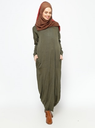 Knitted Cardigan - Khaki - Zentoni