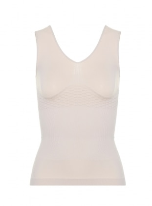 Thick Hanger V Neck Athletes - Beige - Missfit