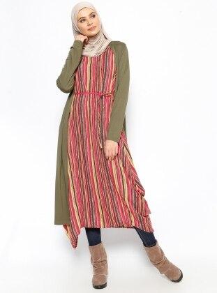 Striped Sleeveless Tunic - Yellow - Neways 234278