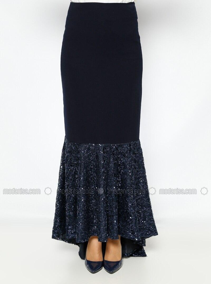 sequined evening dress skirt navy blue evening skirts