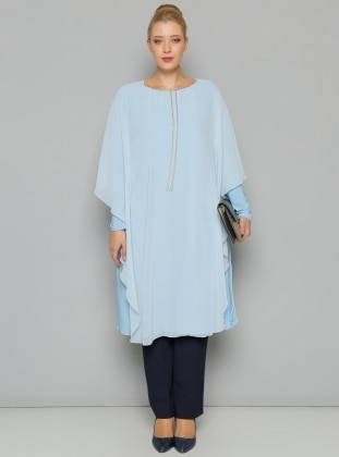 Plus Size Tunic - Blue - S-Vup 236634