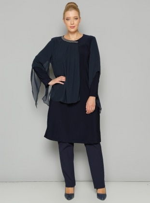 Plus Size Tunic - Navy Blue - S-Vup 236656