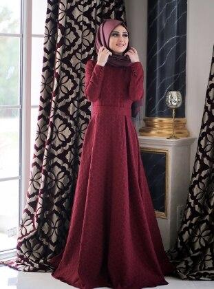 Dress - Maroon - Minel Ask 237057
