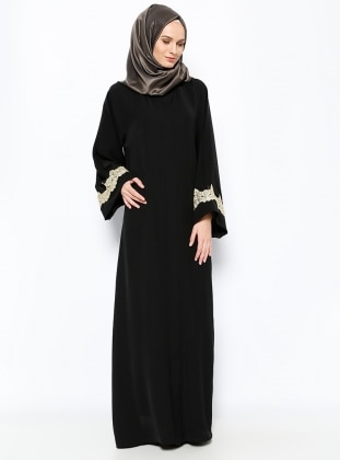 Abaya - Black - ModaNaz 237350