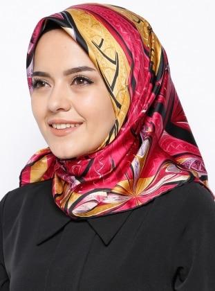 İpek Royal Eşarp - Karışık Renkli Mısırlı