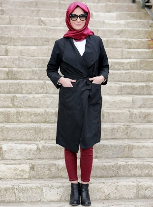 Kimono Kap - Siyah Gizem Kış