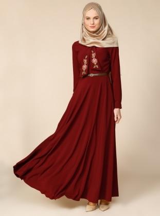 Dress - Maroon - Puane