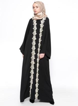Black - Unlined - Abaya - ModaNaz 245494