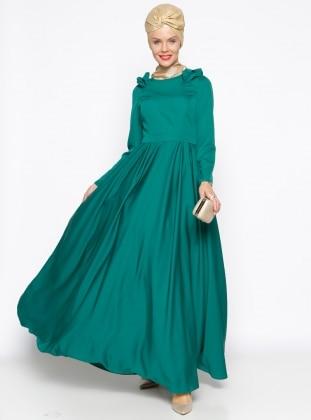 Muslim Evening Dress - Green - MODAYSA 247294