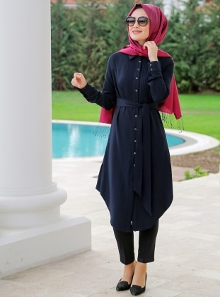 Tunic - Navy Blue - Minel Ask 248873