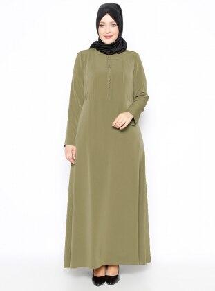 Plus Size Dress - Green - Esswaap 250436
